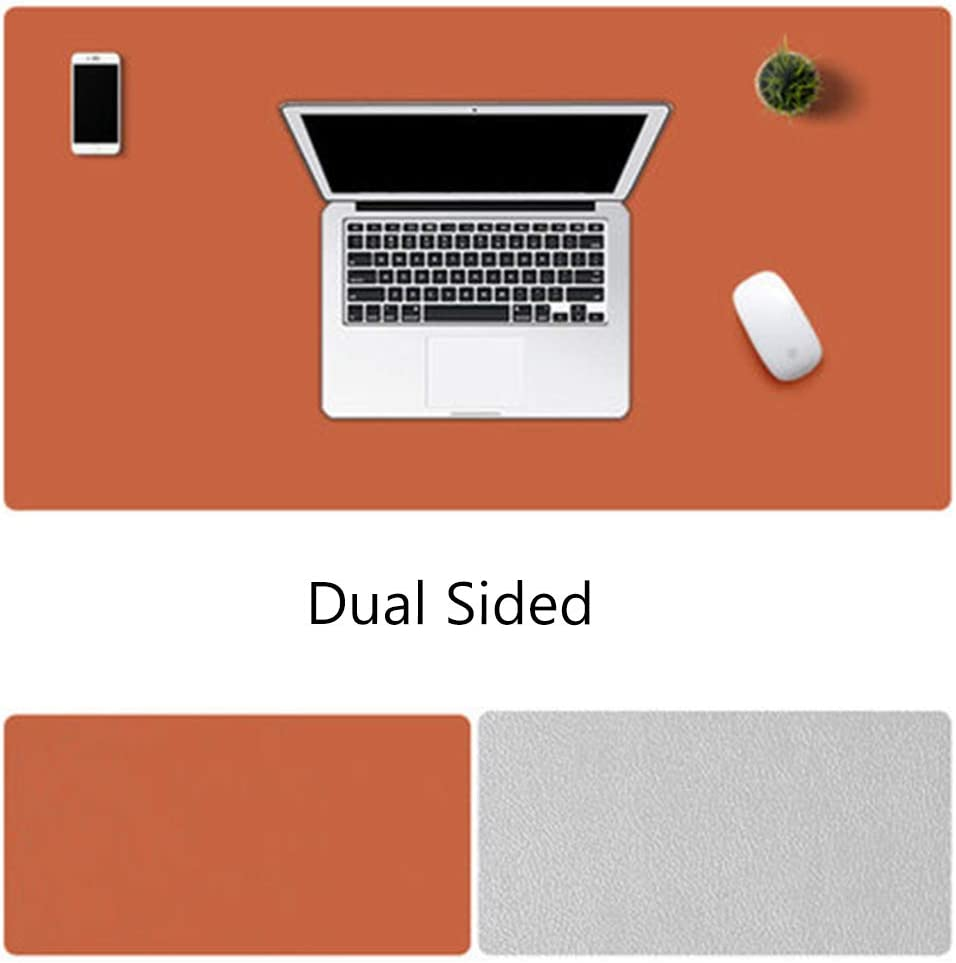 47x24inch JYAcloth Pu Leather Mouse Pad,Office Desk Pad Protector,Waterproof Non Slip Desk Mat Multifunctional Desk Blotter Pad,Large Laptop Desk Writing Mat for Home-d 120x60cm