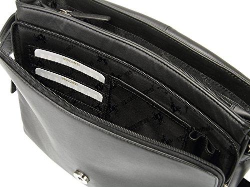Organiser Soft 03190 Handbag Bag Shoulder Body Cross Visconti Ladies Leather Black BOxIIz