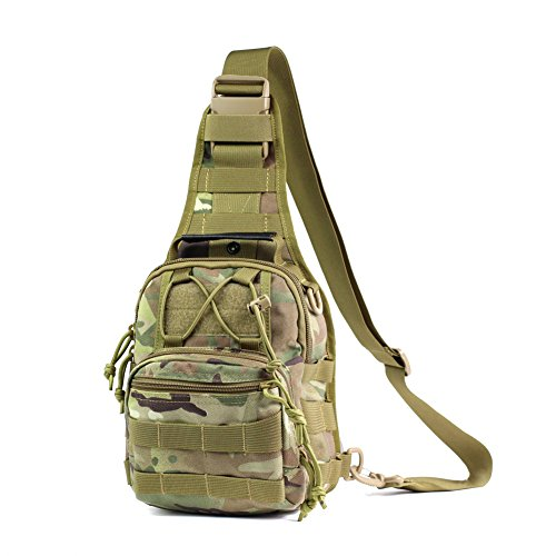 Military Outdoor Tactical sling bag chest bag shoulder bag (CP-Camouflage)