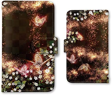 AQUOS sense2 SH-01L / SHV43 / SH-M08 手帳型 スマホケース カード ミラー 携帯ケース アクオスセンス2 スマホカバー スマホ ケース 蝶々 和柄 綺麗 prit0001_C プリスマ