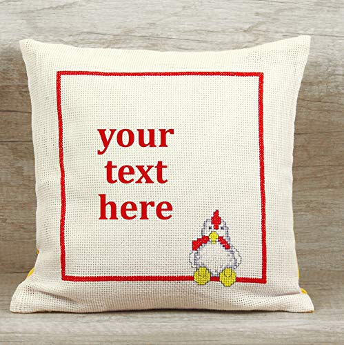 handmade pillow farmer gift, Custom throw pillow cover, Personalized needlepoint pillow cover ()