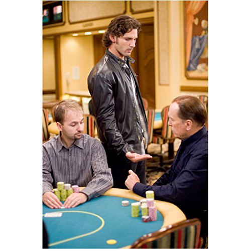 Lucky You (2007) 8 Inch x10 Inch Photo Eric Bana Standing Next to Poker Table w/Robert Duvall & Daniel Negreanu Seated kn