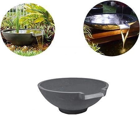 MAQRLT Cascada Fuente de la Piscina, Resina aliviadero Cascada Decoración Circulación Pond View Corriente de Agua Piscina de rocalla del jardín con la Bomba y el Fregadero: Amazon.es: Hogar