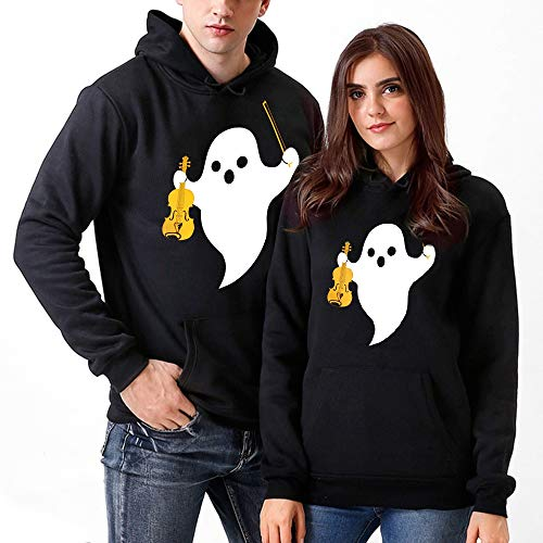 Halloween Costumes for Couples,WUAI Clearance Unisex Casual 3D Pumpkin Print Hoodies Sweatshirt Slim Fit Outdoors Top(Black-A,US Size L = Tag XL) ()