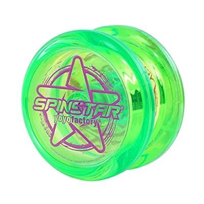 YoYoFactory Spinstar Yo-Yo - Responsive beginner yo yo (Green: Toys & Games