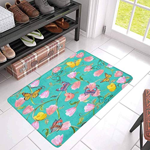 (LONIY Floral Fantasy Indoor Entrance Rug Floor Mats Shoe Scraper Doormat 30 X 18 Inches )
