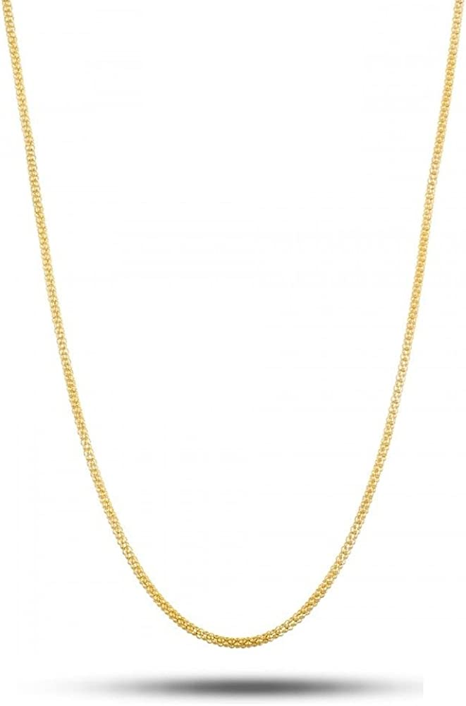 3+1 Link 18 Karat Solid Yellow Gold 1.3mm Figaro Link Chain Necklace 16-30 Made In Italy