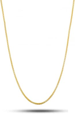 """10K Solid Yellow Gold Franco Necklace Chain 1.4mm 16-30/"""" Polish Link Women Men"""