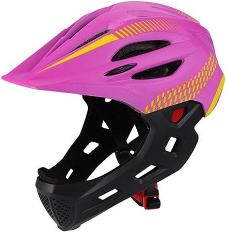 LPC Casco Integral para niños Casco de Bicicleta Casco para Montar ...