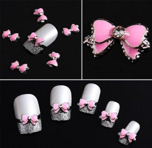 Sannysis(TM) 10PC Fashion Newest 3D Alloy Rhinestones Nail Art Beads Slices DIY Decoration For You (Bow Tie #2)