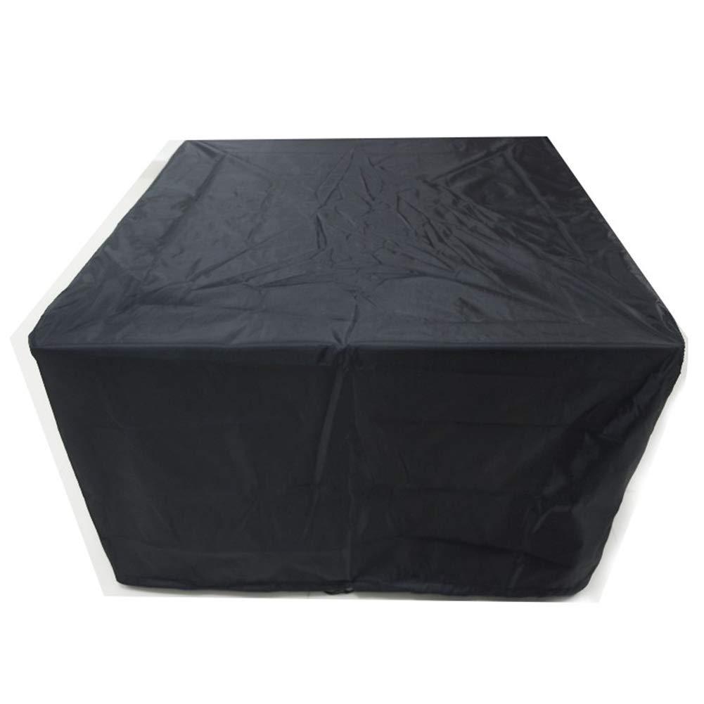 JIANFEI Copertura Mobili Giardino Impermeabile Tarpette Impermeabili Quadrate Resistenti all'Usura, 26 Taglie Personalizzabili (colore   Nero, Dimensioni   213x132x74cm)