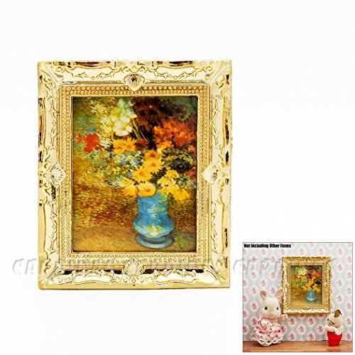 Odoria 1 12 miniature painting with gold frame wall art dollhouse decoration accessories - Gold home decor accessories paint ...