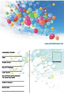 50 Ballonflugkarten, Bunte Ballons Am Himmel