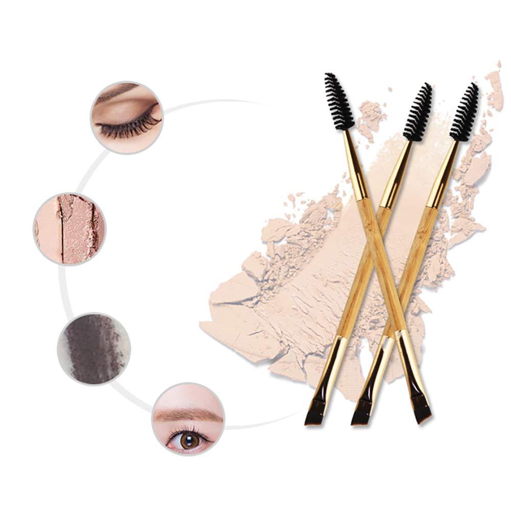 Hemore asa de bamb/ú 1PC Duo Brocha Pincel Cejas y Cepillo del rimel del Peine de Cejas Herramientas de Maquillaje Muchachas de Las Mujeres Herramientas de Maquillaje y Accesorios.