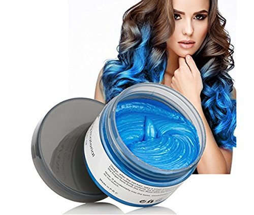 MOFAJANG Hair Coloring Dye Wax, Instant Blue Hair