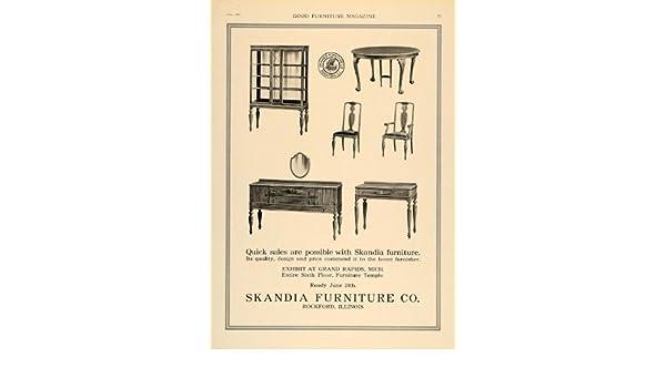 Amazon.com: 1918 Ad Skandia Furniture Rockford Sideboard Buffet   Original  Print Ad: Entertainment Collectibles