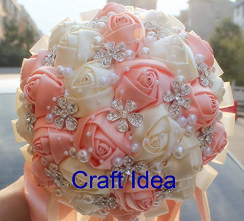YYCRAFT 5 Yards 2.5 3D Chiffon Flower Lace Trims Bridal Bouquets Cluster Flower DIY Sewing Ivory