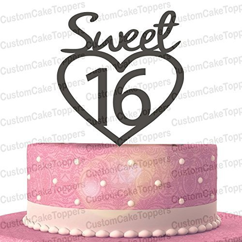 Amazon Com Sweet 16 Cake Topper 16th Birthday Cake Topper Sweet