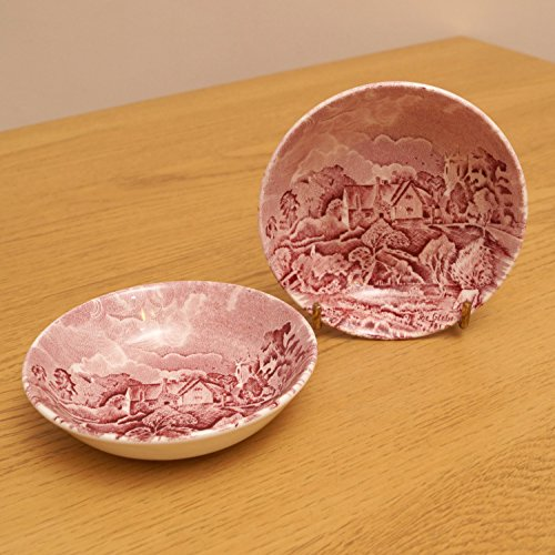 Scenes after Constable by W.H. Grindley Staffordshire England || set of two dishes / bowls