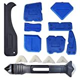Kalolary 14 pcs Caulking Tool Kit, 3 in 1 Caulking Tools Silicone Sealant Finishing Tool Grout Scraper Caulk Remover Caulk for Bathroom Kitchen Room Sealing and Frames Sealant Seals