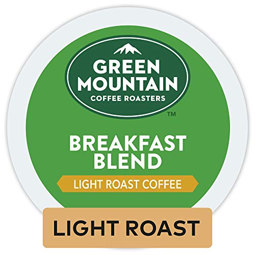 Coffee Medium Keurig Roast (Green Mountain Coffee Roasters Breakfast Blend, Single Serve Coffee K-Cup Pod, Light Roast, 12 Count, Pack of 6)