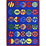 Joy Carpets Kid Essentials Early Childhood Alphabet Patterns Rug, Multicolored, 7'8'' x 10'9''