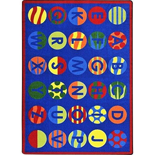 Joy Carpets Kid Essentials Early Childhood Alphabet Patterns Rug, Multicolored, 7'8'' x 10'9'' by Joy Carpets