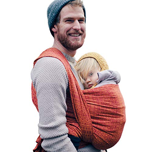 DIDYMOS Woven Wrap Baby Carrier Prima Ruby Mandarin Organic Cotton , Size 5