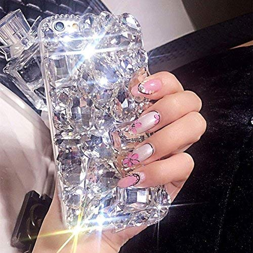 Case Phone Bling Cell - For Samsung Galaxy S8 Cute Sparkle Jewels Case,Aearl TPU Soft Luxury 3D Handmade Stunning Stones Crystal Rhinestone Bling Full Diamond Glitter Cover with Screen Protector for Samsung Galaxy S8 - Clear