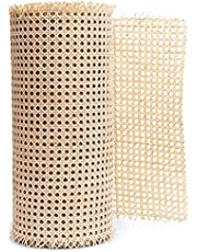 Cane Webbing Roll for Furniture - Rattan Caning Material Sheet Repair Cesca Chair - Hexagon Rattan Decor for Cabinet, Dresser - Sold by The Foot