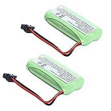 MegaPower (TM) 2x 2.4v 800mAh Home Phone Battery for Uniden BT-1021 BT-1025 BT-1008S BT-1008