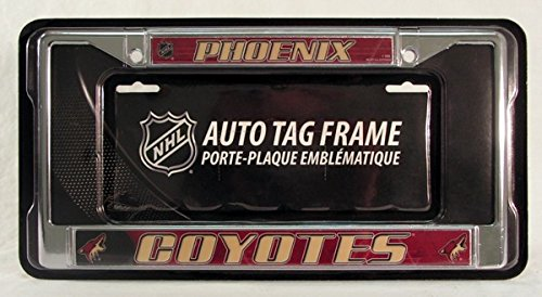 - Rico Phoenix Coyotes Vintage NHL Chrome Metal License Plate Frame