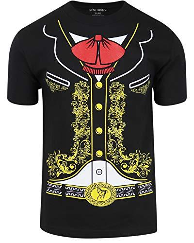 ShirtBANC Original Mexican American Inspired Mens Shirts (Mariachi, L) -