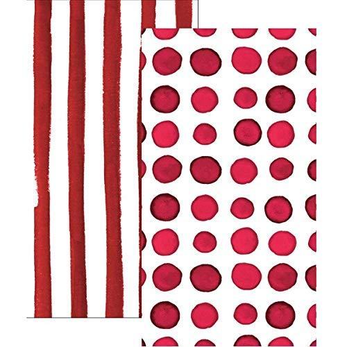 (Paper Hand Towels Guest Towels Bathroom Accessories 2-Sided Design Garnet 8x4