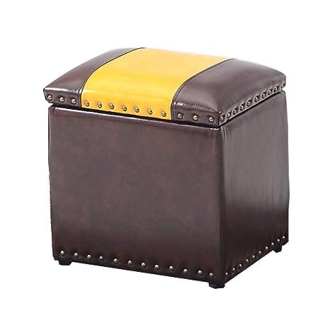 Pleasant Amazon Com Zll Design Retro Storage Stool Leather Footstool Inzonedesignstudio Interior Chair Design Inzonedesignstudiocom