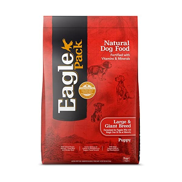Eagle Pack Natural Dry Large Breed Puppy Food, Lamb, Chicken & Fish, 30-Pound Bag