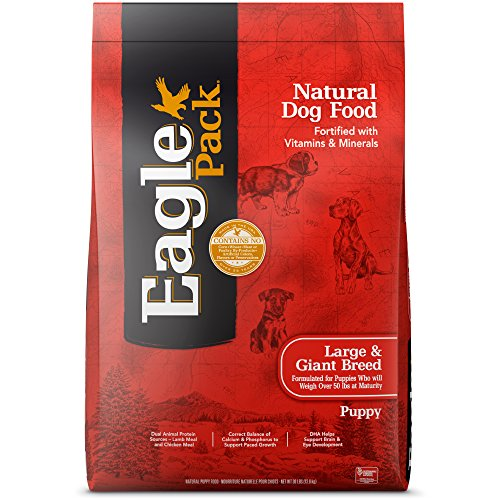 Eagle Pack Natural Dry Large Breed Puppy Food, Lamb, Chicken & Fish, 30-Pound Bag (Pet Puppy Packs)
