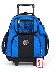 TW 18 Rolling Back Pack on Wheels With Retractable Handle Royal Blue