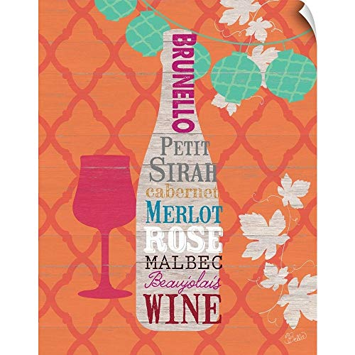 CANVAS ON DEMAND Summer Wine Celebration I Wall Peel Art Print, 38