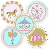 Carousel Sticker Labels - Birthday Baby Shower Party - Set of 50