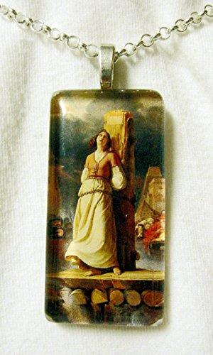 - Saint Joan of Arc glass pendant - GP01-561