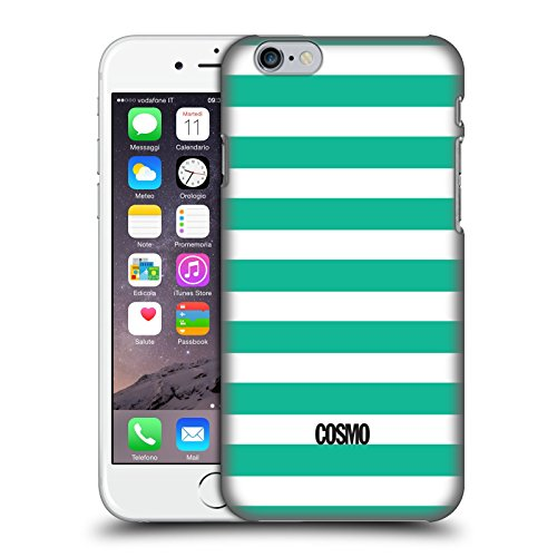 Official Cosmopolitan Teal Stripes Collection Hard Back Case for Apple iPhone 6 / 6s