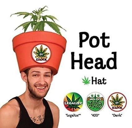 420 Legalize It Costume Ideas - Funny Pot Head Hat Combo w/Fake Plant  sc 1 st  Amazon.com & Amazon.com: 420 Legalize It Costume Ideas - Funny Pot Head Hat Combo ...