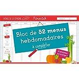 Bloc de menus à compléter Mémoniak 2017