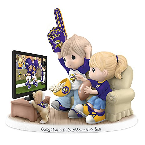 The Hamilton Collection Figurine Precious Moments Every Day is A Touchdown with You Vikings Figurine