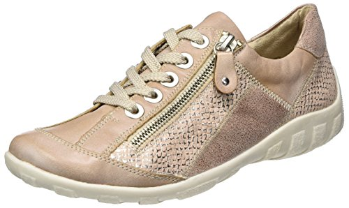 Remonte Screen Donna Casual Scarpe Stringate 4/37 Rosa Chiaro