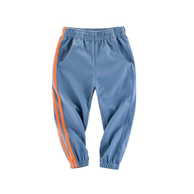 PAUBOLI Pantalones de chándal de algodón para niños de la Marca ...