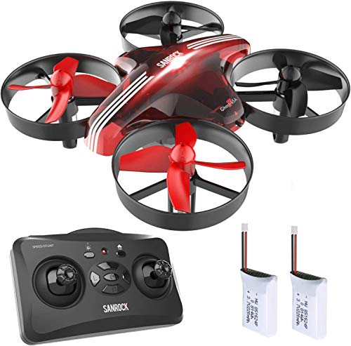 SANROCK GD65A Upgrade Mini Drones for Kids and Beginners, RC Helicopter Support Headless Mode, Altitude Hold, 3D Flip…