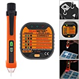 220V ~ 250V Portable Electrical Smart Socket Tester + 50-60Hz AC 12-1000V Pen Circuit Detector