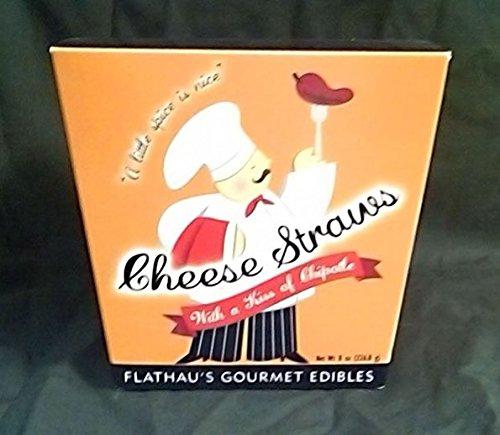 Flathau's Fine Foods 7712 8 oz. Cheddar Chipotle Cheese Straws - Pack of 12 by Flathau's Fine Foods
